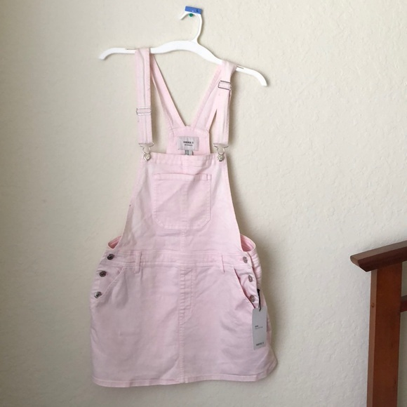 b2e322f430 Forever 21 Other   Pale Pink Overall Skirt   Poshmark